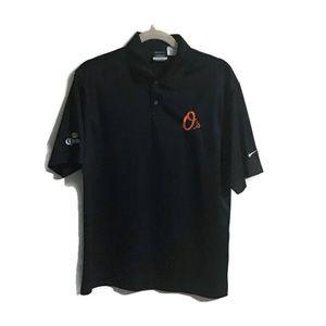 Baltimore Orioles golf polo. Black. Small